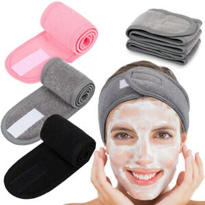 1PC Adjustable Facial Hairband Makeup Head Band Toweling Hair Wrap Stretch Towel