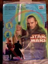 Star Wars SET OF 3 DECORATIONS Hallmark Party Express LUCAS FILM Liam Neeson NEW
