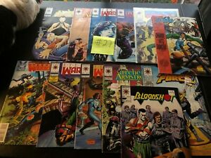 Valiant Comics Eternal Warriors Bloodshot Large Comic Book Lot