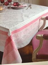 Garnier-Thiebut Mathilde Rose tablecloth 68x68 Stain resistant