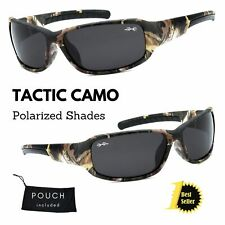 Men's Xloop Polarized Real Tree Camouflage Camo Sports Hunting Wrap Sunglasses