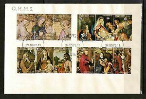 Aitutaki 1975 Christmas-Paintings By Pietro Lorenzetti In Strips  OHMS FDC-Mint