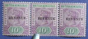 1899 BR HONDURAS 10c Scott# 49a S.G.# 67a UNUSED ERROR CS01230