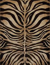 "Modern Zebra Black Area Rug 2x7 Animal Print Stripe Runner - Actual 1'9""x7' 2"""
