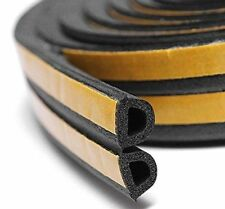 6M White Black Brown Foam Draught Self Adhesive Window Door Excluder Seal Strip