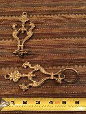 Pair Antique Dragon Head Chandelier Hangers