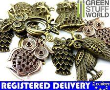 OWLS BIG Size Beads Mix Set 85gr. - 5 units - sizes 5-7cm - Jewelry Making set