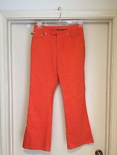 "Express Jeans Stretch  ""Low Rise"" ""Flare""  in Orange Size 3/4  25"" x 29"" EUC"