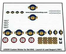 Lego® Custom Pre-cut Transparant Sticker for set 6542 - Launch & Load Seaport