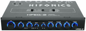 Hifonics HFEQ-2 1/2 Din 4-Band Equalizer w/ 9-Volt Line-Driver Signal Processor