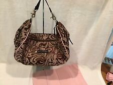 petunia pickle bottom touring tote Brown And Pink Paisley Used Condition