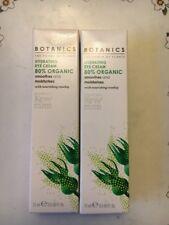 2 X BOOTS BOTANICS THE POWER OF PLANTS HYDRATING EYE CREAM 80% ORGANIC ROSEHIP