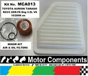 AIR & OIL FILTER Kit for TOYOTA Aurion Rav 4 Tarago 2GR-FE 3.5L V6  2006 on