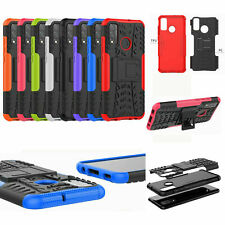 For Huawei P Smart 2020 Shockproof 2in1 Dual-Layer Rugged Armor Stand Case Cover