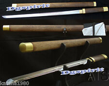 "39.4"" Handmade Japanese Ninja Straight Sword Rose Wood Shirasaya Ninjato"
