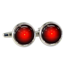 Red Robot Eye Cufflinks Gift Boxed discovery watching seeing hal NEW