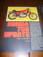 1970's HONDA CB750 HOT ROD TAKING IT TO THE EIGHTIES ***ORIGINAL 1981 ARTICLE***