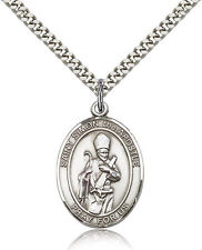 """Saint Simon Medal For Men - .925 Sterling Silver Necklace On 24"""" Chain - 30 D..."""