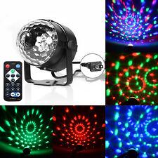 3W RGB Magic Rotating Ball Effect Led Stage Lights Party Club KTV Bar DJ +Remote