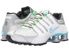 Nike Women's Shox NZ Running Shoe Sz 7.5 Metallic Sil/White/Blue Originally $125