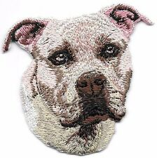 "2 1/4"" x 2 1/2"" Staffordshire Bull Terrier Portrait Dog Breed Embroidery Patch"