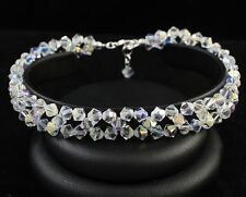 New Crystal AB Star Silver Bracelet made with Swarovski Elements. Gift wrapped