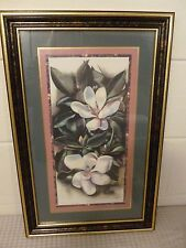 Vintage Home Interiors White Orchid Picture