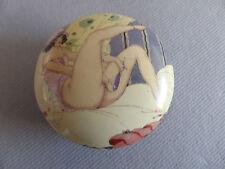 BOITE PORCELAINE STYLE ART DECO FEMME NUE EROTIQUE box GERDA WEGENER 932-5A