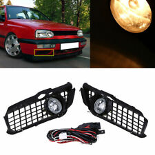 2x Clear Front Bumper Grille Driving Fog Light Lamp for VW MK3 Golf Jetta 92-98