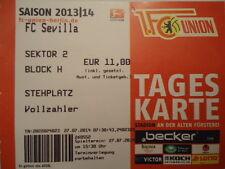 TICKET Friendly 2013/14 Union Berlin - FC Sevilla