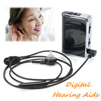 Pocket Digital Hearing Aid Ear Acousticon Adjustable Sound Amplifier Battery