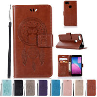 HOT Genuine Leather Flip Wallet Case Cover For HUAWEI Y6 Pro(2017)/P9 Lite Mini