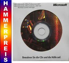 OFFICE Professional 2007 | Vollversion | Dauerlizenz | CD DVD | Access + Outlook