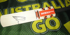 David Warner (Australia) signed Gray Nicolls mini bat (across bat) + COA & proof
