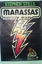 Original 1972 Stephen Stills Manassas Poster Before Crosby Stills Nash & Young