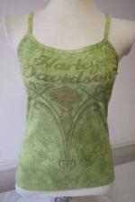 "Harley-Davidson Women's Spaghetti strap Green ""obsession"" tank top shirt small"