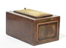 Antique Pin Cushion Wood Sewing Box w/ Opening Mechanism