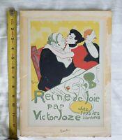 """Toulouse Lautrec litho COLOR LITHOGRAPH PRINT 11 1/4""""x 8"""" reine de joie mourlot"""