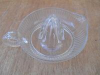 Citrus juicer, Vintage clear glass reamer....excellent