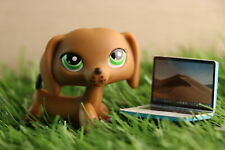 Ualps lps Dachshund 139 Brown Dog with lps accessoires mini laptop Authentic