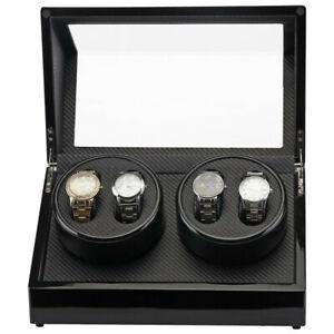 Automatic Rotation Watch Winder Carbon Fiber Jewelry Storage Case Display Box .
