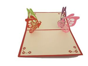 3d Popup Butterflies Card