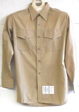 UNISSUED FLYING CROSS USMC MARINE CORPS LONG SLEEVE KHAKI SHIRT 15 1/2 X 33 NIB