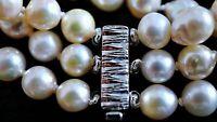 vintage Akoya Zucht Perlen Armband 835 Silber ca. 37,94 Gramm