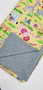 JUNGLE ANIMALShandmade LINED baby swaddle blanket cotton blend fabrics AUSTRALIA
