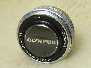 Olympus M.Zuiko Digital 17mm f/2.8 Micro 4/3 Lens + genuine cap..