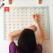 1pcs Plan Paper 100 Days Countdown Schedule Wall Daily Weekly Months Calendars