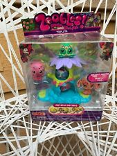 Zoobles Spring To Life Triplets Celeste Beluga Jeromey POP Open Action Toy 2010