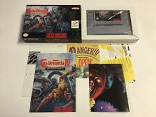 Castlevania IV 4 Super Nintendo SNES CIB 100% Complete Ex-NM Full Color