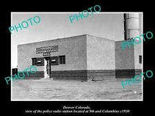 OLD LARGE HISTORIC PHOTO OF DENVER COLORADO, THE POLICE RADIO STATION c1930